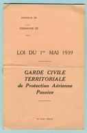 Livret 1939 - Instructions 'Protection Aérienne ' - 1939-45
