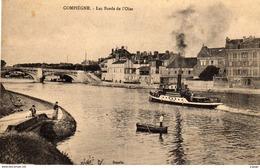 COMPIÈGNE  Les Bords De L'Oise. Pêcheurs, Bateau Vapeur.   2 Scans - Compiegne
