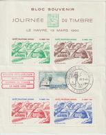 France Feuillet Vignettes Journée Timbre 1960 Le Havre - Esposizioni Filateliche