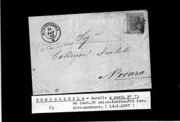 CG29 - Lettera Da Domodossola Per Novara 14/8/1867 - Marcophilia