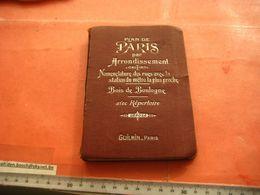 1 Booklet 14,5cm X 10cm Guilmain Printer, Paris METRO C1900 Arrondissement - Nomenclature Des Rues + Plans - Livres, BD, Revues