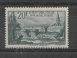 FRANCE  -  Yvert   N° 394 *  PORT DE SAINT-MALO - Unused Stamps