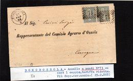 CG29 - Lettera Da Domodossola Per Omegna 29/2/1868 - Marcophilia