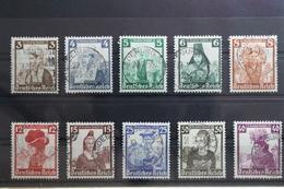 Deusches Reich 588-597 Gestempelt #TZ052 - Non Classés