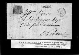 CG29 - Lettera Da Domodossola Per Novara 28/9/1868 - Marcophilia