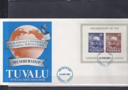 Tuvalu Michel Cat.No. FDC 152/153 + Sheet 6 UPU - Tuvalu