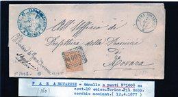 CG29 - Lettera Da Fara Novarese Per Novara 12/4/1877 - Marcophilia