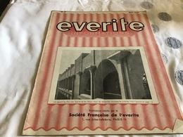 Everite  Information Société Française De L Everite  Mai 1938 Everite - Publicités