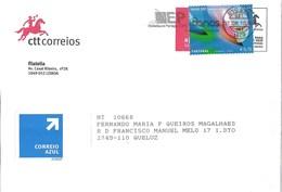 Portugal Cover With Cascais Stamp And ESTRADAS DE PORTUGAL 80 ANOS Cancellation - 1910-... République