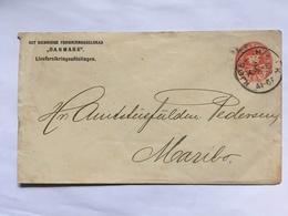 DENMARK 1880`s Pre-paid Cover Copenhagen To Maribo - Briefe U. Dokumente