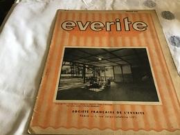 Everite  Information Société Française De L Everite  Mai 1937  Everite - Publicités