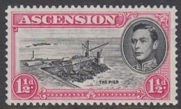 ASCENSION 1938 1 1/2 D CARMINE  PERFORATION 13 MNH - Ascension