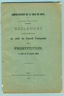 2 Livrets   - Règlement De Police Sur La Prostitution 1889 - Decrees & Laws