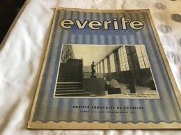 Everite  Information Société Française De L Everite  Mai 1936   Everite - Publicités