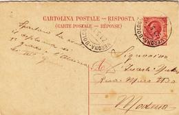 C.P. Mill. 16 RISPOSTA -  Cent.10 - Da Carpi A Modena Con A.M.B.  Verona - Bologna ( 10 ) - Entiers Postaux