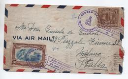 SALVADOR - 1940 - ENVELOPPE Pour MILANO - El Salvador
