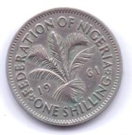 NIGERIA 1961: 1 Shilling, KM 5 - Nigeria