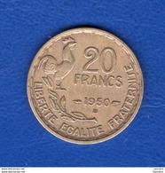 20 Fr   G Guiraup  1950 B   Queue  3 Faucilles - L. 20 Francs