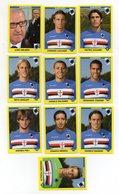 Figurine Calciatori 2009/2010 - SAMPDORIA - Lotto Nr. 10 Figurine - Edizione Panini 2010 - (FDC21034) - Panini