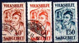 Sarre: Yvert N° 141-142-144° - Oblitérés