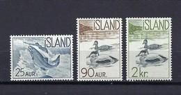 Island 1959, Nr. 335-337, Freimarken: Einheimische Fauna, Postfrisch (mnh) ** - Ungebraucht