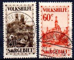 Sarre: Yvert N° 155/156° - Oblitérés
