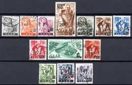 Sarre: Yvert N° 216/228° - 1947-56 Occupation Alliée