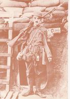 """CHARLIE CHAPLIN CHARLOT - RIPRODUZIONE IMMAGINE D'EPOCA DAL FILM """"CHARLOT SOLDATO"""" """"SHOULDER ARMS"""" 1918 - NON VIAG - Attori"""