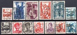 Sarre: Yvert N° 231/243° - 1947-56 Occupation Alliée