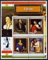 IRAQI KURDISTAN - Micronation - 2005 - World Chess Champs. Titian Paintings - Perf 4v Sheet - Mint Never Hinged - Otros - Asia