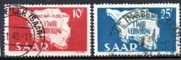 Sarre: Yvert N° 248/249° - 1947-56 Occupation Alliée