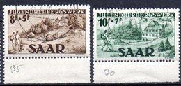Sarre: Yvert N° 250/251° - 1947-56 Occupation Alliée