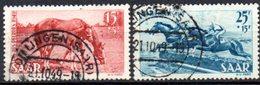 Sarre: Yvert N° 253/254°, Cheval; Horse - 1947-56 Occupation Alliée