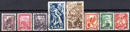 Sarre: Yvert N° 255/262° - 1947-56 Occupation Alliée