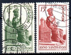Sarre: Yvert N° 273/274° - 1947-56 Occupation Alliée