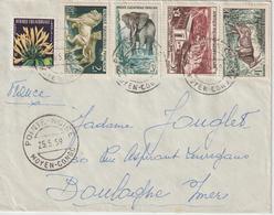 AEF Lettre 1959 Pointe Noire Moyen Congo Pour La France - A.E.F. (1936-1958)