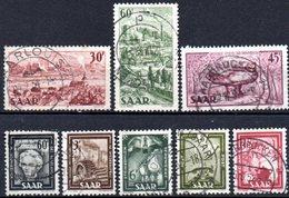 Sarre: Yvert N° 283/290° - 1947-56 Occupation Alliée