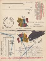Carte En Franchise Avec Réponse Du 13/0/14. Griffe 'LE DESTINATAIRE N A PU ETRE  Atteint En Temps Utile - Guerre De 1914-18