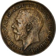 Monnaie, Grande-Bretagne, George V, Farthing, 1923, TB+, Bronze, KM:808.2 - 1902-1971 : Monnaies Post-Victoriennes