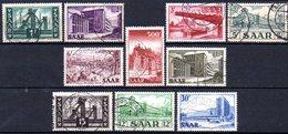 Sarre: Yvert N° 306/315° - 1947-56 Occupation Alliée