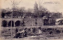 Labrugiere, Tarn Les Lavoirs (lavandieres) Avec Cachet Des Détachements D'instruction 1916 - Labruguière