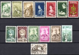 Sarre: Yvert N° 347/360° - 1947-56 Occupation Alliée