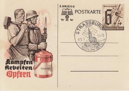 EP Michel P 291 Sonderpostkarte Für Das Winterhilfswerk Obl STRASSBURG / (Els) Du 12.1.41 - Elsass-Lothringen