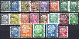 Sarre: Yvert N° 391/410° - 1957-59 Fédération