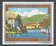 Italia / Italy - 1987 Serie Turistica, Tourism, Landscapes, Views, Verbania Pallanza, Lake, Lac, Lago,Used - 6. 1946-.. Republik