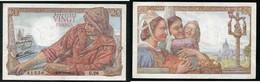 20 F PECHEUR 21.5.1942 - 1871-1952 Anciens Francs Circulés Au XXème