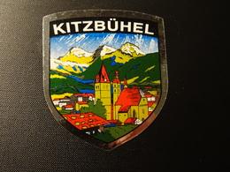 Petit Blason écusson Adhésif Autocollant  Kitzbühel (Autriche) Wappen Aufkleber Coat Of Arms Sticker Adesivo Adhesivo - Obj. 'Remember Of'