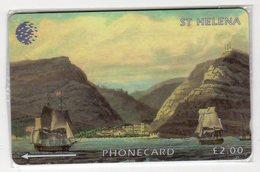 SAINTE-HELENE JAMESTOWN NAPOLEON 2 £ Ref MV CARDS STH-15 NEUF MINT 1000 Ex. RARE - St. Helena