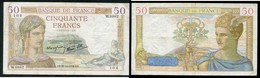 50 F CERES 27.10.1938 - 50 F 1934-1940 ''Cérès''