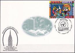 UNO NEW YORK 1999 Mi-Nr. 46 Grüne Karte - Show Card  Mit Erinnerungsstempel New York - New York -  VN Hauptquartier